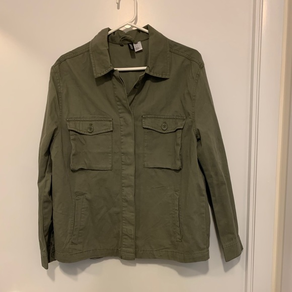 """NWOT H&M Army Green Utility """"Shacket"""""""
